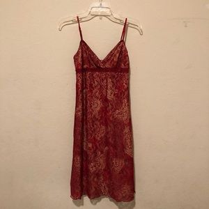 Red Lace Slip Dress